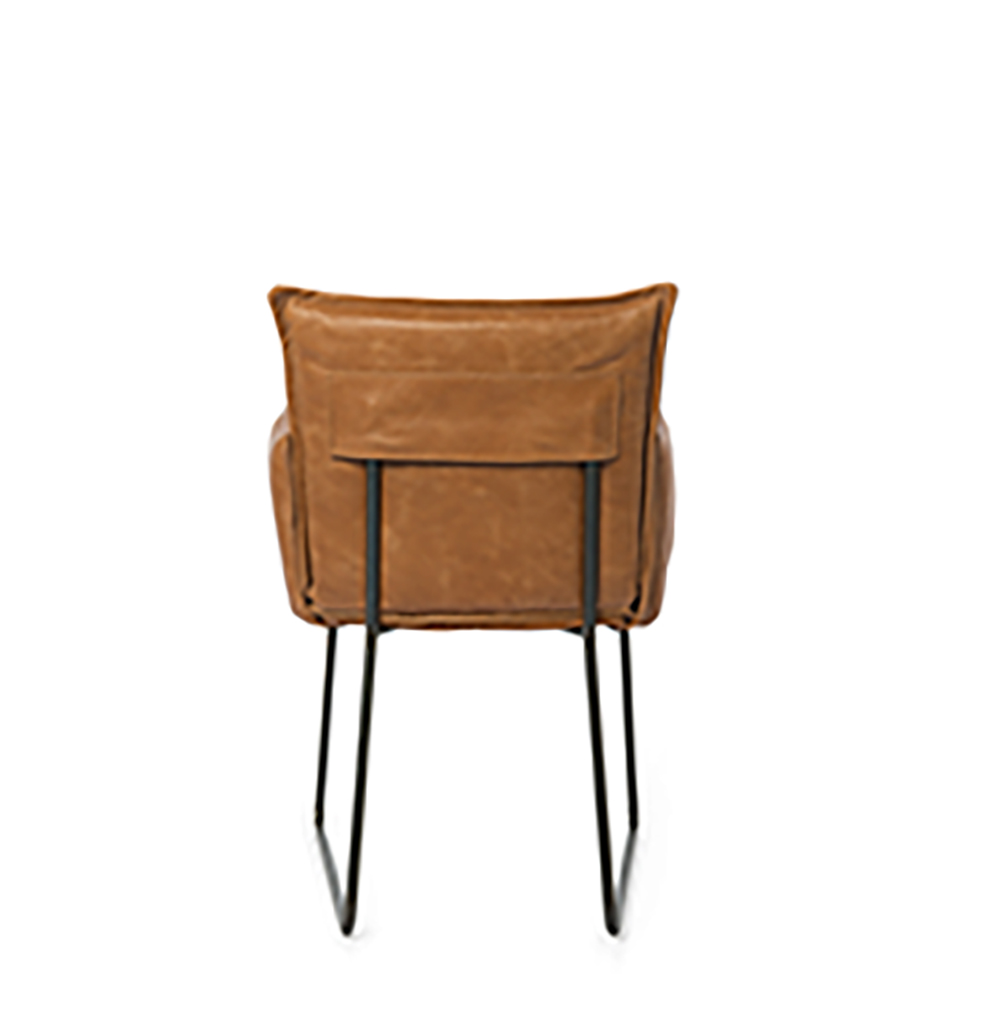 Duke Dining Chair With Arm Bonaza Tan Back
