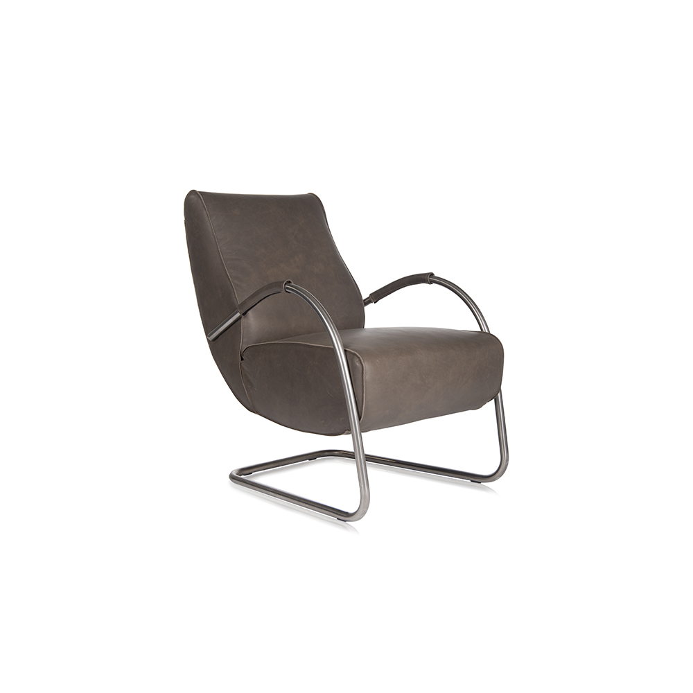 Howard Chair With Arm Stainless Steel Bonaza Grey Achter Oblique