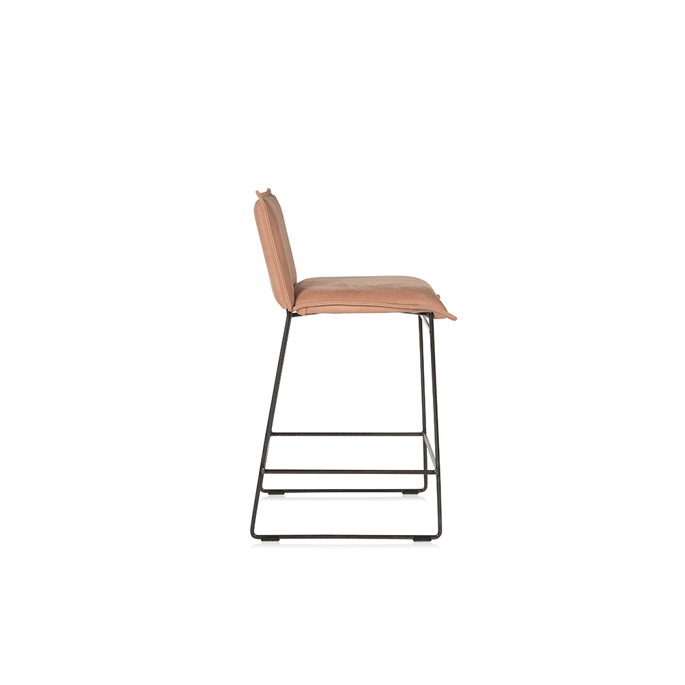 Amy Barstool Without Arm Aurula Pink Side