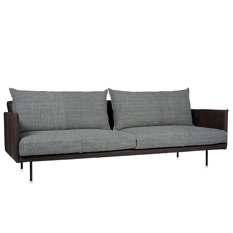Jazz Sofa With Arm, Bonanza Grey Aurula Stone Oblique