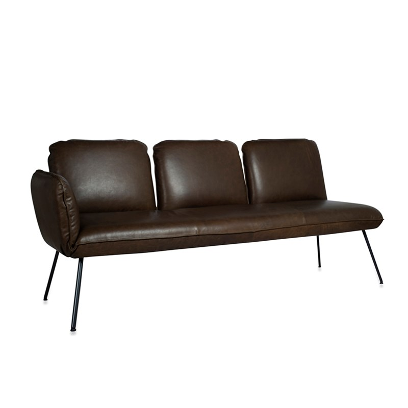 Shuffle Sofa 3 Seats Arm Left Luxor Grey Oblique