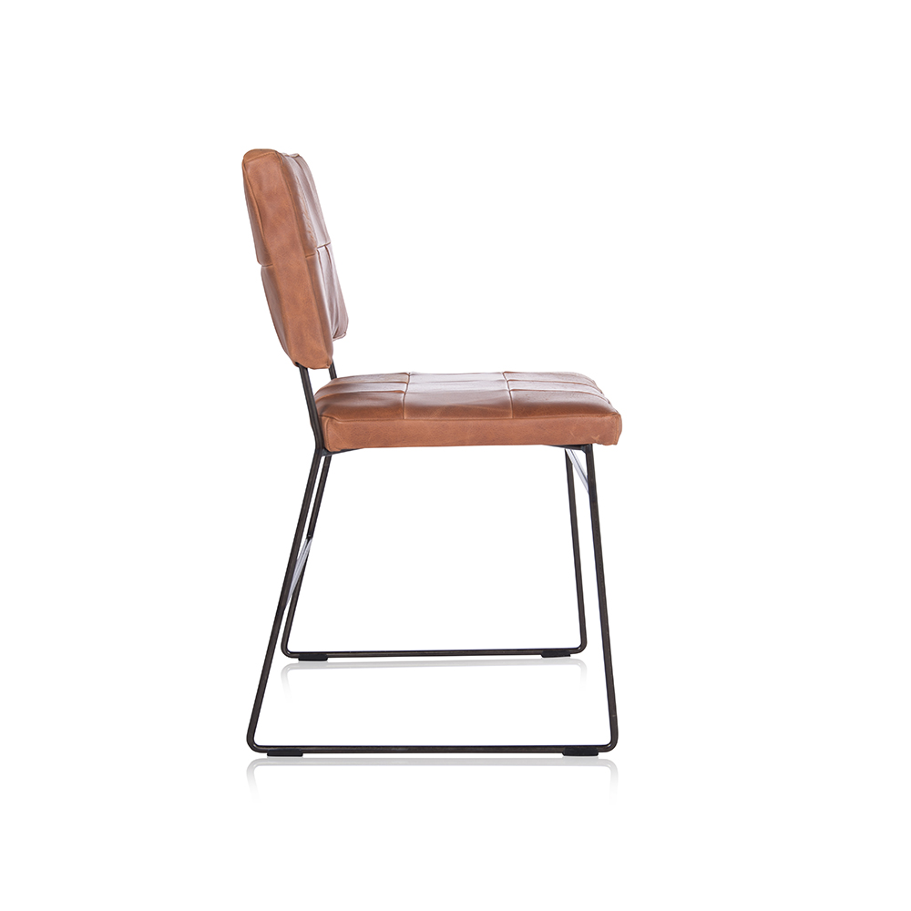 Mila Diningchair Without Arm Bonanza Tan Side