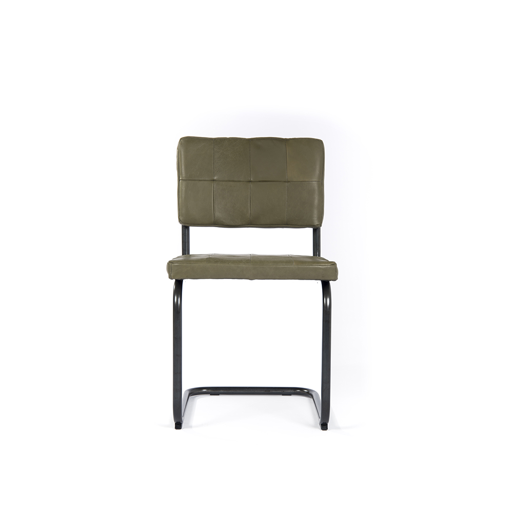 Nelson Diningchair Without Arm Royal Olive Front