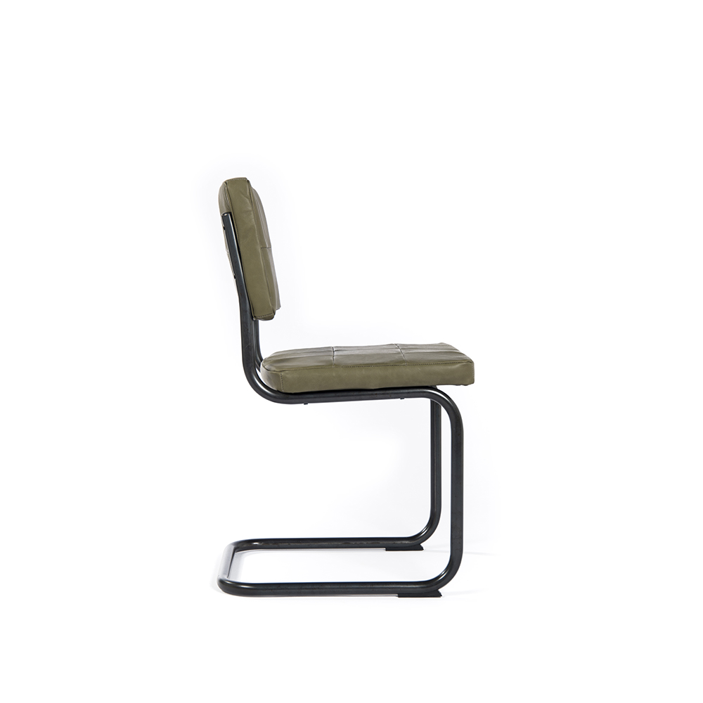 Nelson Diningchair Without Arm Royal Olive Side